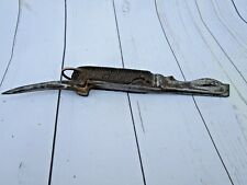 R.F.W 1963 MARKED OLD VINTAGE 3 TOOLS ARMY KNIFE WITH MULTI TOOLS & HORN HANDLE