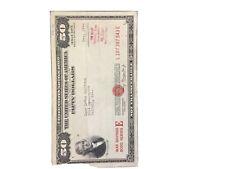 $50.00 U.S. War Savings Bond
