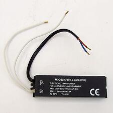 ELECTRONIC LIGHTING TRANSFORMER 230V to 12V 60VA 50W  SUIT LOW VOLTAGE HALOGEN