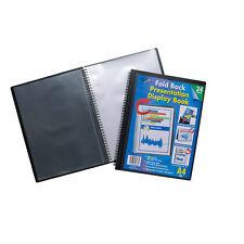 A4 Fold Back 24 Acid Free Pocket Certificate Wiro Display Book Portfolio Folder