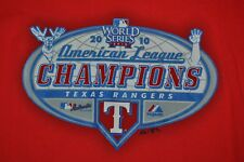 T-SHIRT L LARGE AMERICAN LEAGUE CHAMPIONS TEXAS RANGERS BASEBALL 2010 SHIRT