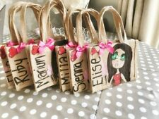 PERSONALISED  HAND PAINTED JUTE BAG Xmas Gift Birthday Bridal