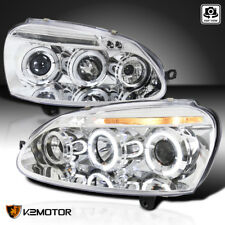 For 2006-2010 Volkswagen MKV Golf Jetta Rabbit LED Halo Projector Headlights MK4