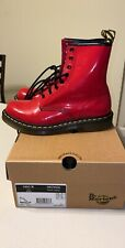 Dr. Martens 1460 Women's Red Smooth Leather 8 Eyelet Boots Size 8