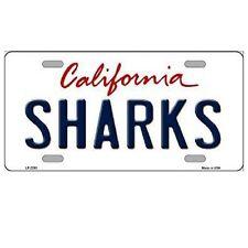 "San Jose Sharks California State Background Novelty Metal License Plate 6"" x 12"""