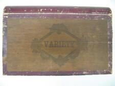 RARE Antique Variety Choice Wooden Book Shaped Novelty Cigar Box 1883 Tax Stamp