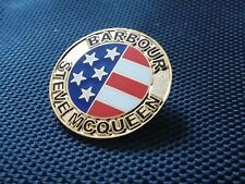 A ULTRA RARE BARBOUR INTERNATIONAL  / STEVE MCQUEEN MOTORCYCLE JACKET PIN BADGE