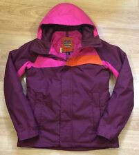 BURTON Snowboard Jacket Womens Medium Pink Orange And Burgundy