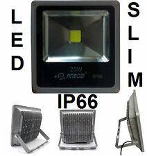 Faro LED SLIM ultra sottile.IP66,bianco freddo.20W.Esterno,impermeabile,t.stagna