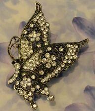Dolly-Bijoux Fantaisie Grosse Bague Papillon T50 à 62 Pavé Cristal Swarowsky 7cm