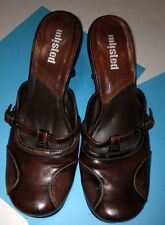 UNLISTED Womens Brown Slip Ons Heels Dress Shoes Sz 9