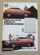 E975 - Advertising Pubblicità - 1985 - ALFA 33 4x4 A TRAZIONE INTEGRALE