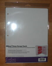 5-pk Light Weight Storage Panels for rubber stamps backed with EZ Mount