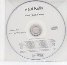 (EG714) Paul Kelly, New Found Year - 2013 DJ CD
