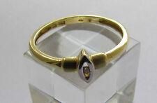 Ring 14 k 585 Gelbgold mit 1 Brillianten 0,015ca, 58 Große 1,8 Gramm