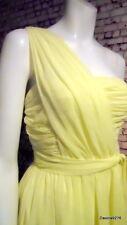 Kate Moss celebrity ruffle sleeveless dress yellow boned prom wedding 8