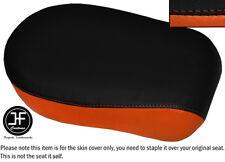 BLACK & ORANGE VINYL CUSTOM FOR YAMAHA XVS 650 CLASSIC V STAR REAR SEAT COVER