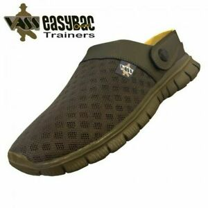 Vass 'Easy-Bac' Khaki Fishing Trainer Sleepers Sliders Shoes - Carp Fishing *New