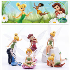 6 TINKERBELL FAIRIES SECRET OF THE WING ACTION FIGURE DOLL CAKE TOPPER DECOR TOY