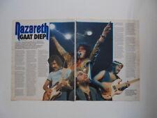 Nazareth Dan McCafferty Darrell Sweet Manny Pete clippings Holland Dutch 1970s