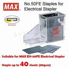 MAX No.50FE Staple Cartridge, 5000 staples for MAX EH-50F Electric Stapler ONLY