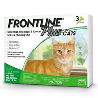 Frontline Plus for Cats Flea and Tick Control and Treatment 3-Doses