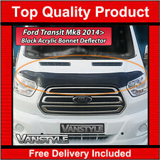 Ford TRANSIT Mk8 2014 on Bonnet Wind Bug Stone Deflector Protector Not Bra Van