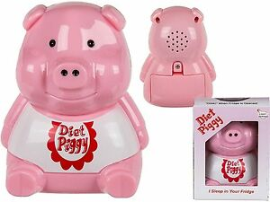 2 X le Régime Soins Cochon Piggy Réfrigérateur Alarme avec Lumière Capteur & Son