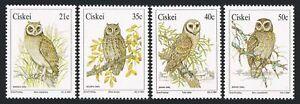 SA-Ciskei 163-166,166a,MNH.Michel 183-186,Bl.6. Owls 1991.Marsh,Scops,Barn,Wood