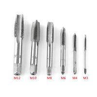 12pcs M3 M4 M6 M8 M10 M12 HSS Machine Hand Screw Thread Metric Tap Drill Set