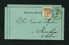 """Österreich - Kartenbrief 1890 """"Ischl"""" nach Sachsen   (#2435)"""