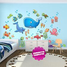 R00029 Wall Stickers Adesivi Murali Bambini Il mondo degli abissi 120x60cm