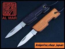 AL MAR Lee Pocket Knife Black or Brown leather handle # Genuine article