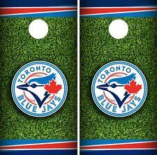 Toronto Blue Jays Cornhole Wrap MLB Field Game Board Skin Set Vinyl Decal CO446