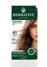 HERBATINT Tinta per capelli naturale alle erbe scuro Biondo Dorato 6D 150ml -