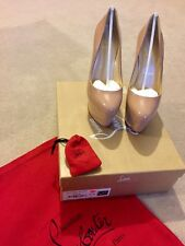 Christian Louboutin Alto Vicky Patent NudeUK 37.5- New never been worn