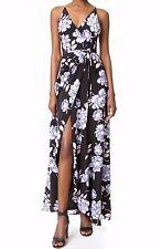 NWT $288 YUMI KIM Silk Rush Hour Maxi Dress Classic Peony Black Size S