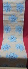 Papier peint ancien - Bouquets bleusau ruban d'or - Art déco- 1930 -
