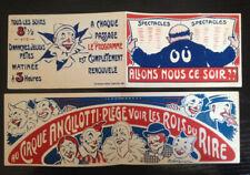 Publicité cirque clowns  circo zirkus cirque Ancillotti Plege 1920 second modele