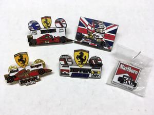 LOT OF 5 F1 PINS - FERRARI, WILLIAMS, MARLBORO, PROST, ALESI, BERGER, MANSELL