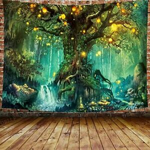 Fantasy Forest 3D Tree Tapestry Psychedelic Wall Hanging Throw Blanket scenic