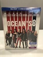 Ocean's 8 Blu-Ray+ DVD + Digital  New Free Shipping