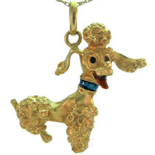 Poodle Pendant In 14Kt Yellow Gold