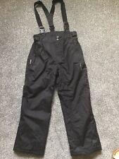Black Trespass Age 7-8 Years (122-128cm) Ski Snow Boarding Salopettes Trousers