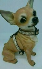 "XS  Dog harness and Lead 8""-12"" neck chihuahua puppy Made in England 10mm wide."