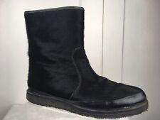 Lulu Guinness Anthropologie Faux Fur Ankle Boots Crepe Sole Women's Sz 7 US/ 38