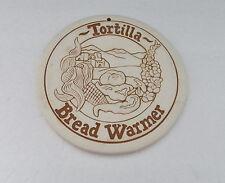 Tortilla Bread Warmer Trivet by Lyn Ulic 1990 Made in USA Fruit  Adobe Heartland