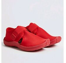 MARKS AND SPENCER Riptape Fastenings Kids' Aqua Shoes RED BNWT SIZE 11 EURO 29