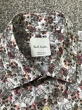MEN'S PAUL SMITH LONG SLEEVED SHIRT - 15.5 15 1/2 Collar Made In Italy Floral