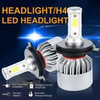 2X H4 CREE LED Headlight 200W 9000LM Hi/Low Kit Bulbs Beam HID COB 6500K UK